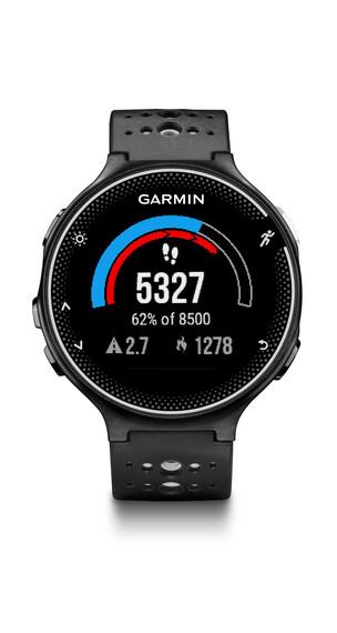 Garmin Forerunner 230 HR Laufuhr inklusive Premium HF-Brustgurt schwarz/weiß